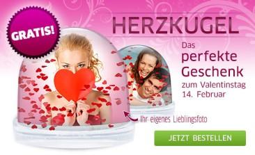 Gratis Herzkugel zum Valentinstag